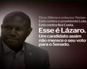 Comercial da coligação do PT e PSD ataca Irmão Lázaro; Confira o vídeo